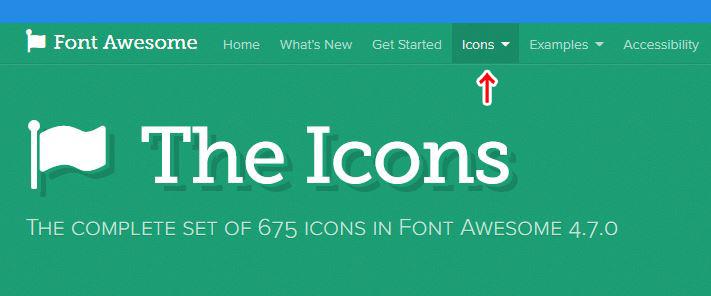 Iconsをクリックで、旧バージョンの4.7.0が使えます
