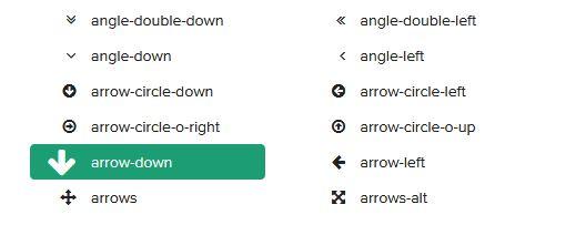 FontAwesome 4.7.0 アイコンを選ぶ