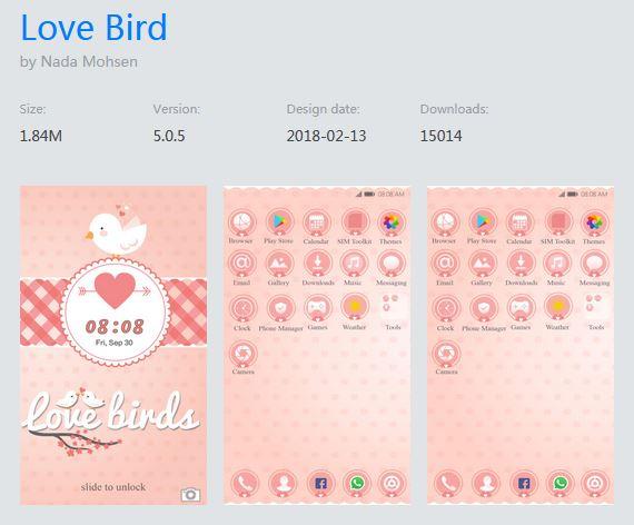 EMUI配布テーマ「Love Bird」