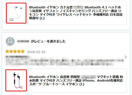 Amazon レビュアー例2