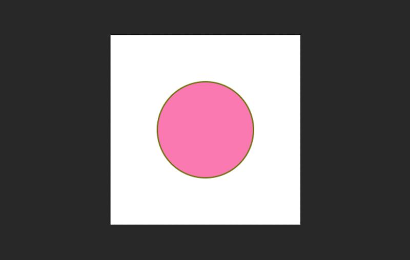 円の輪郭が入りました