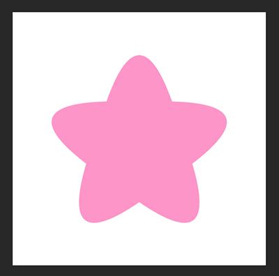 Photoshopで角の丸い星の形をつくる方法