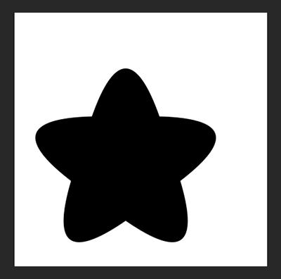 どこでもいいので星を描きます
