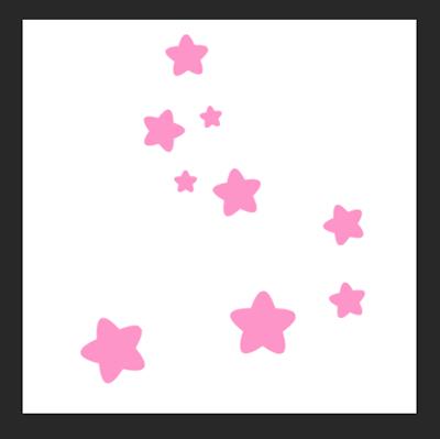 星がランダムに描写されました