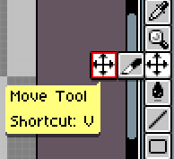「Move Tool」を選択