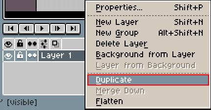 「Duplicate」をクリック