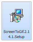 「ScreenToGif」インストール