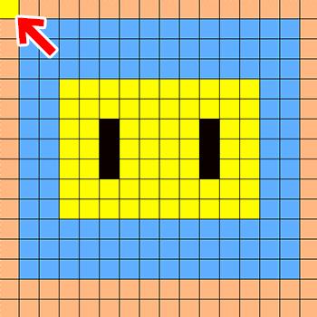 「編集レイヤ(0.0)の色を透過させる」 応用例