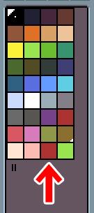 Aseprite カラーモード「Indexed」 パレット番号