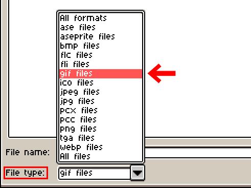 GIF形式で保存