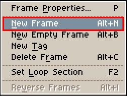 New Frameをクリック