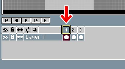 Aseprite タイムライン フレームを移動する、順番を変える