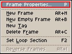 Frame Properties