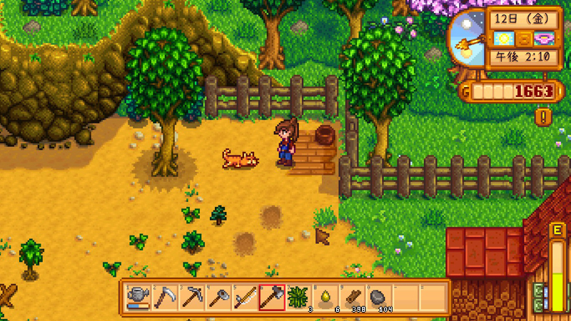 「Stardew valley」Steamで低スペックでもプレイできるゲーム