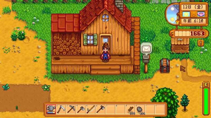Steam「Stardew valley」低スペックのノートパソコンでもプレイできるゲーム
