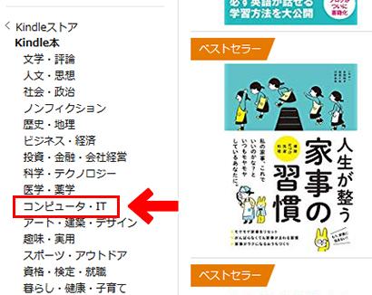 Kindle Unlimited ジャンル別メニュー