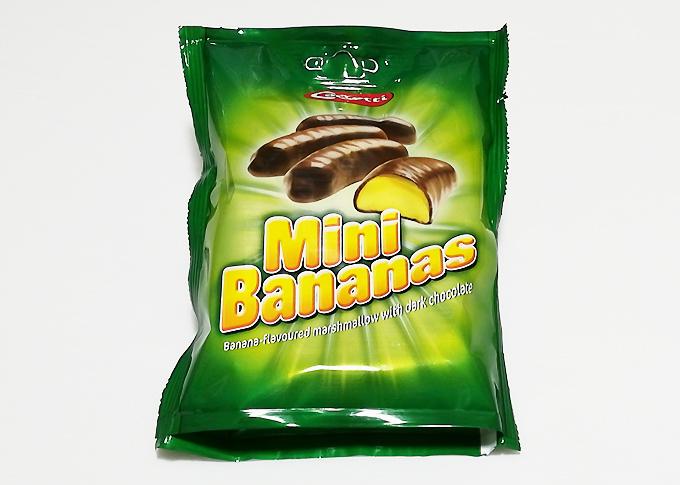 業務スーパーの外国のお菓子「Mini Bananas」