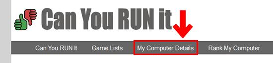 My Computer Details