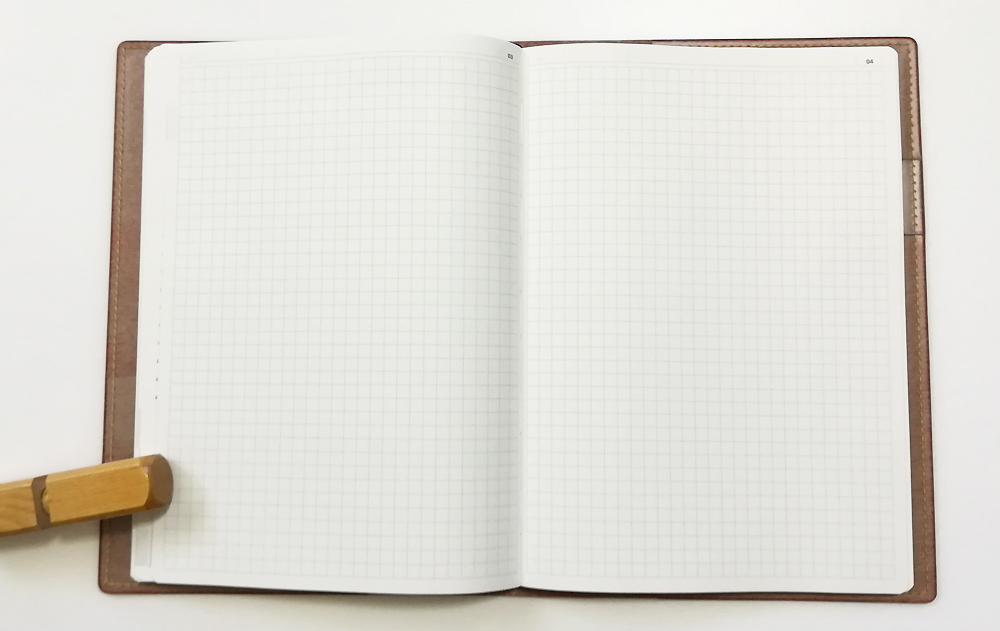 「陰山手帳2019」レビュー フリーの方眼ページ