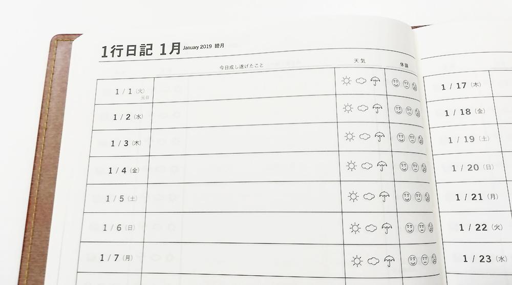 「陰山手帳2019」レビュー 1行日記