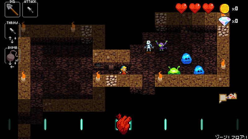 Crypt of the NecroDancer Steamおすすめローグライクゲーム