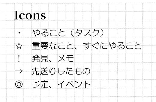 【手帳術】陰山手帳をバレットジャーナル風に使ってみよう アイコンを決める
