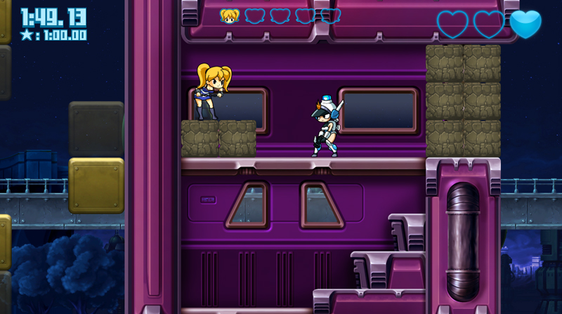 Steam「Mighty Switch Force! Hyper Drive Edition」パズル要素のあるアクションゲーム