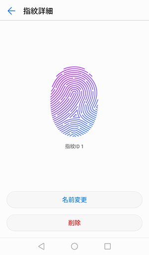「指紋ID」