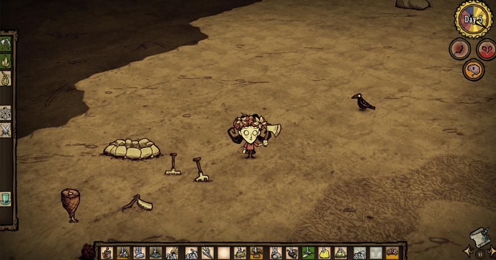 Don't Starve 低スペックのノートPCでプレイ可能なゲーム Steam
