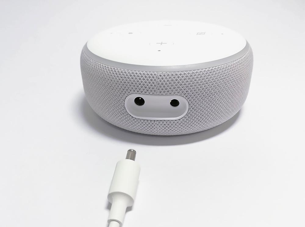 Echo Dot 第3世代 接続端子