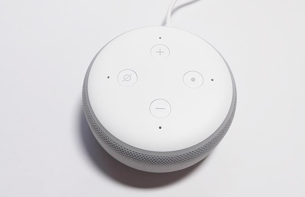 Echo Dot本体のボタンを使ってみよう