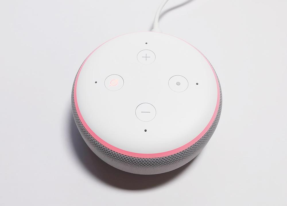 Echo Dot マイクオフボタンが有効に