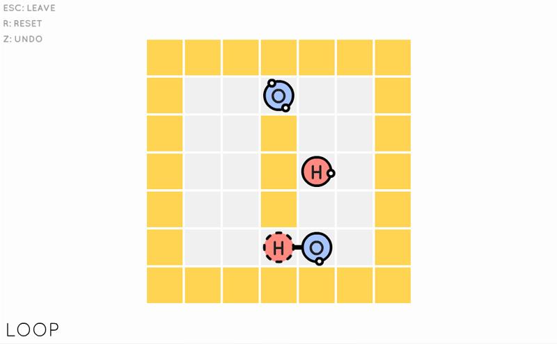 Steamの面白いパズルゲーム「Sokobond」