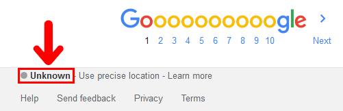 Google 現在の位置情報がUnknownに