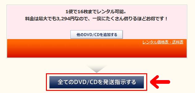 『全てのDVD/CDを発送指示する』ボタンを押す