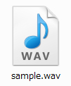 wav形式の音楽ファイル