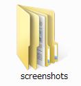 「Screenshots」フォルダ