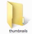 「thumbnails」フォルダ