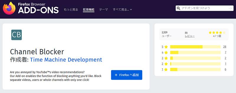 Channel Blocker Firefox