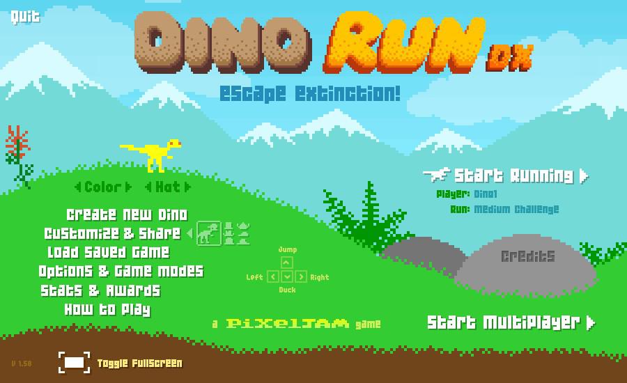 DINO RUN DX Steamでドット絵がすばらしいゲーム