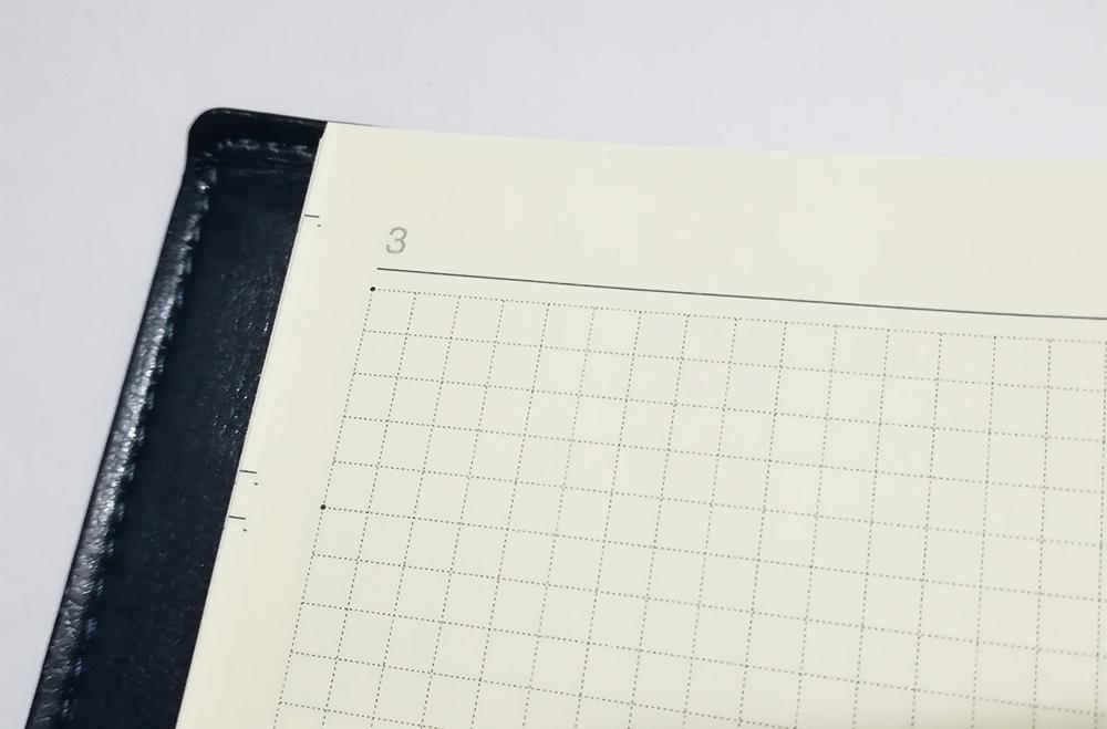 永岡書店の手帳「Biz GRID」方眼メモページのレイアウト