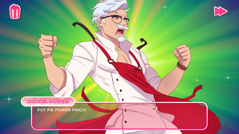 KFC公式の乙女ゲーム「I Love You, Colonel Sanders! A Finger Lickin' Good Dating Simulator」豊富なCG