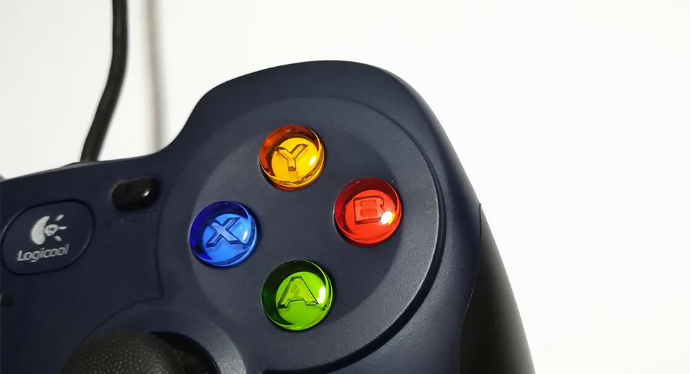 ゲームパッド「Logicool(ロジクール)F310r」ボタン構成