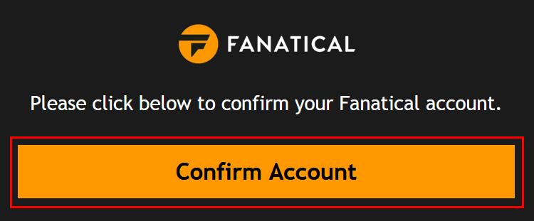 「Confirm Account」ボタンを押します