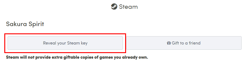「Reveal your Steam key」