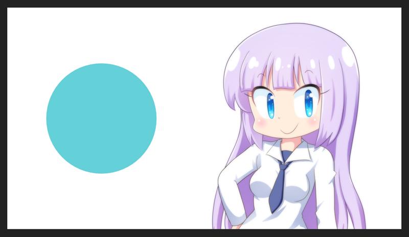 好きなサイズの円を描きます