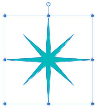 二重星形がほっそりとした形に
