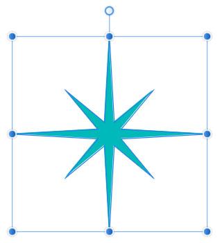 二重星形の斜めの部分が小さく