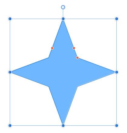 4つの角がある星形