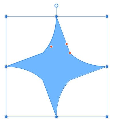 星形のカーブが変形